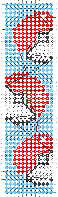 Alpha Pattern #16837 Added By Crafty14 Alpha Patternsloom Patternsfriendship  Bracelet