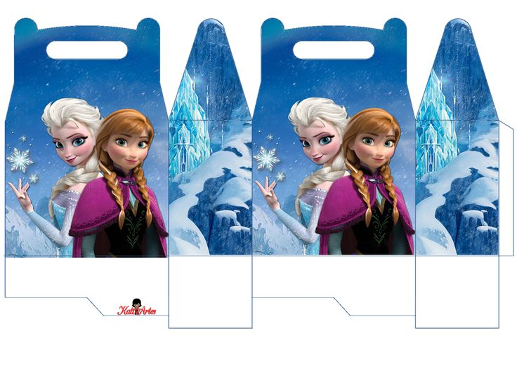 Frozen: Caja para Lunch, para Imprimir Gratis. | Ideas y material gratis para fiestas y celebraciones Oh My Fiesta!
