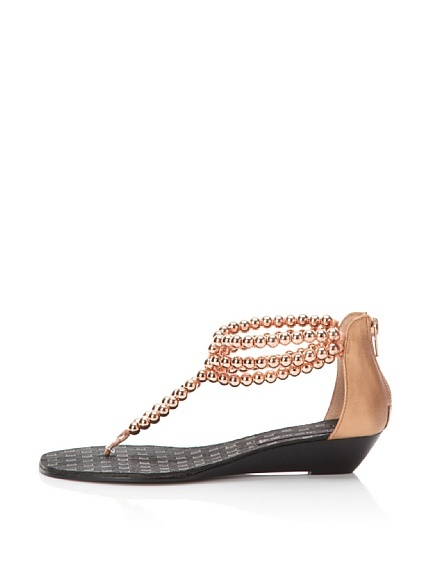 STEVEN Clam Beaded Flat Sandal