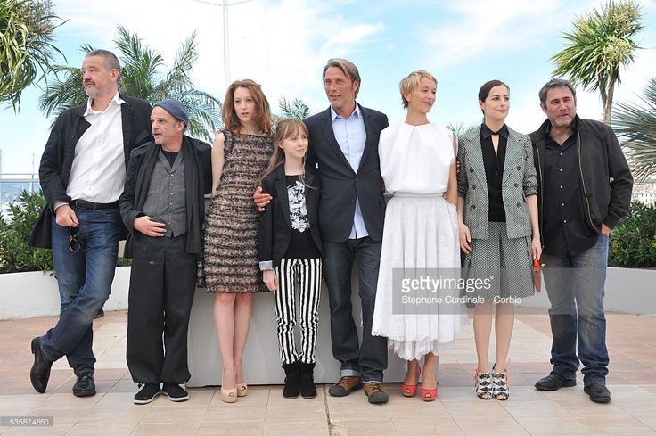 Director Arnaud des Pallieres Chuillot, actress Roxane Duran, actress Melusine Mayance, actor Mads Mikkelsen, actress Delphine Chuillot, actress Amira Casar and actor Sergi Lopez attend the 'Michael Kohlhaas' photo call during the 66th Cannes International Film Festival.
