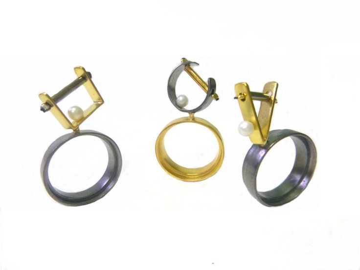 #Balance... #Contemporary #handmade #rings made of #silver925, by #KonstantinosGeorgopoulos. #goldplated #blackplatinum