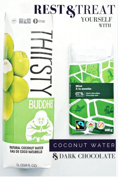 Rest and Treat Yourself with Thirsty Coconut Water & Camino Dark Chocolate — S&C