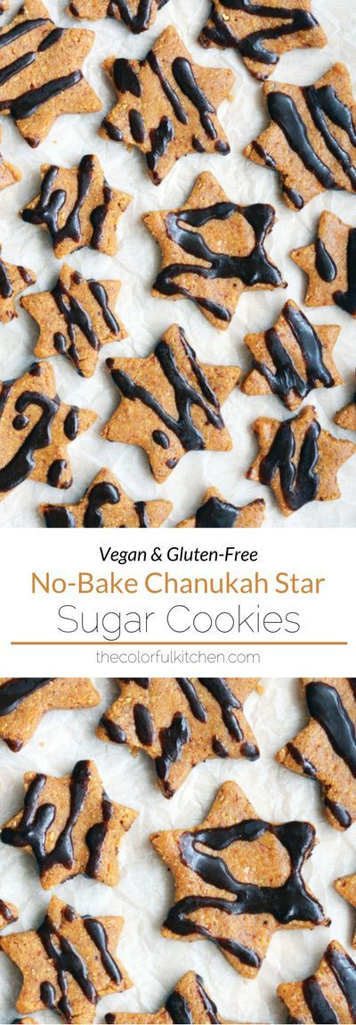 No-Bake Chanukah Star Cookies -- Vegan + Gluten-Free recipe. Healthy Chanukah cookies that are raw and so simple to make. (And you can cut them into any shape to match the holiday).