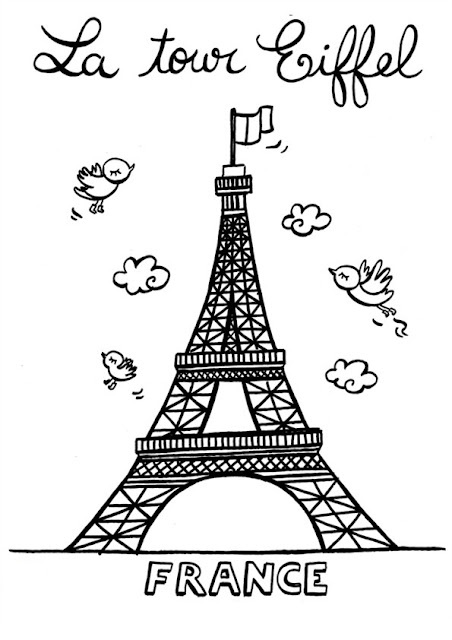 eiffel tower - rough sketch for painting