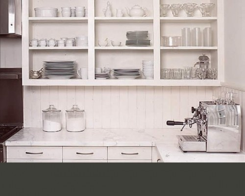 quick change to cabinets. Take off doors.: Kitchens Design, Open Shelves, Traditional Kitchens, Open Cabinets, Small Kitchens, Open Kitchens, Kitchens Cabinets, Cabinets Doors, White Kitchens
