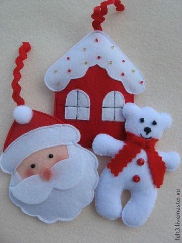 ЁЛОЧНЫЕ ИГРУШКИ из ФЕТРА / Новый год / новогодние подарки,поделки и костюмы