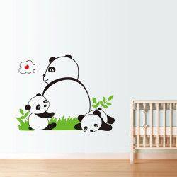 Panda family!  Nu har du chansen att fynda ett snyggt panda väggdekor. Det unika motivet ger rummet en snygg och fräsch look! Förutom motivet är storleken väldigt iögonfallande när du äntrar rummet.  Länk till produkt: http://www.feelhome.se/produkt/panda-family/  #Homedecoration #art #interior #design #Walldecor #väggdekor #interiordesign #Vardagsrum #Kontor #Modernt #vägg #inredning #inredningstips #heminredning #natur #djur #panda #barn #barninredning #barnrum #bebis