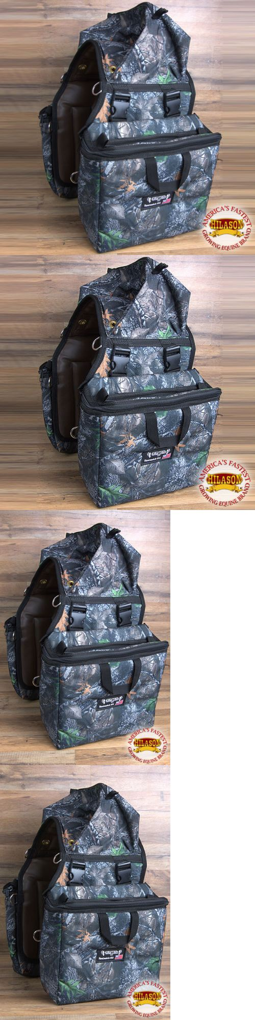 Saddle Bags 167243: 14X12x6 Equitech Detachable Insulated Horse Saddle Bag Side Bag Removal Camo BUY IT NOW ONLY: $99.95