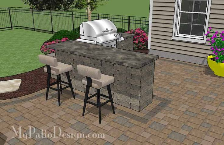 Large Paver Patio Design With Grill Station + Bar. | Plan No. 1155rr |  Download Installation Plan At MyPatioDesign.com | Pool U0026 Landscaping Ideas  ...