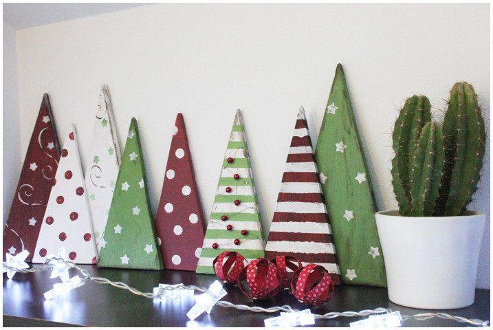Alberi decorativi di Natale in legno, by Melancolia, 15,00 € su misshobby.com