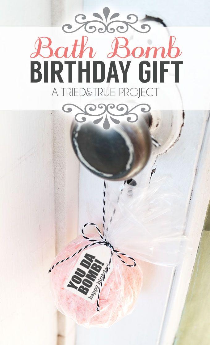 Bath Bomb Easy Birthday Gifts