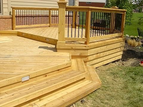 114 best images about wood and hardwood deck ideas on for Cedar decks pros and cons