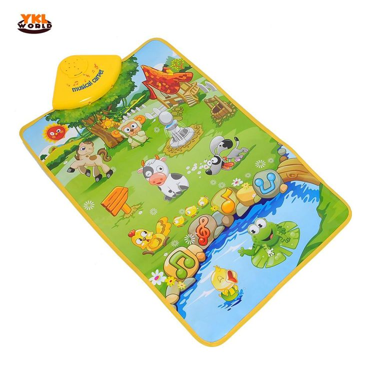 YKLWorld Delicate Music Sound Sounding Farm Animal Kids Baby Play Playing Mat Musical Carpet Play Mat Gym Toy Hot Selling -50