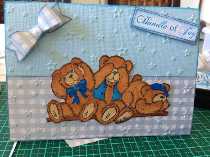 Baby shower card designed by Kristy Knight Independent Kaszazz Consultant