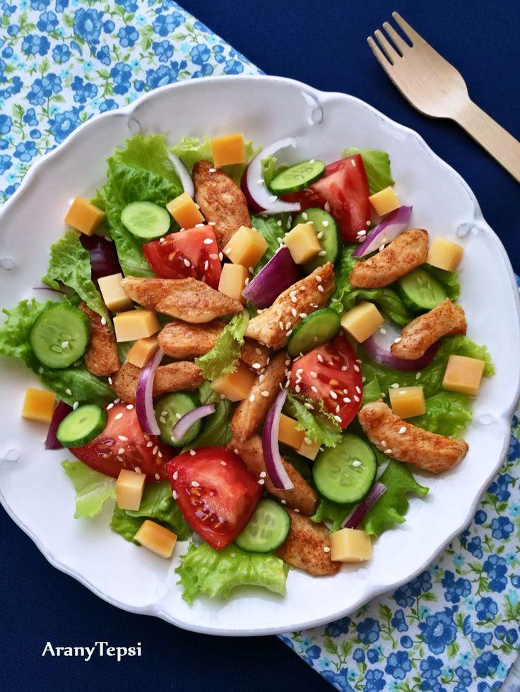 AranyTepsi: Csirkés, füstölt sajtos saláta