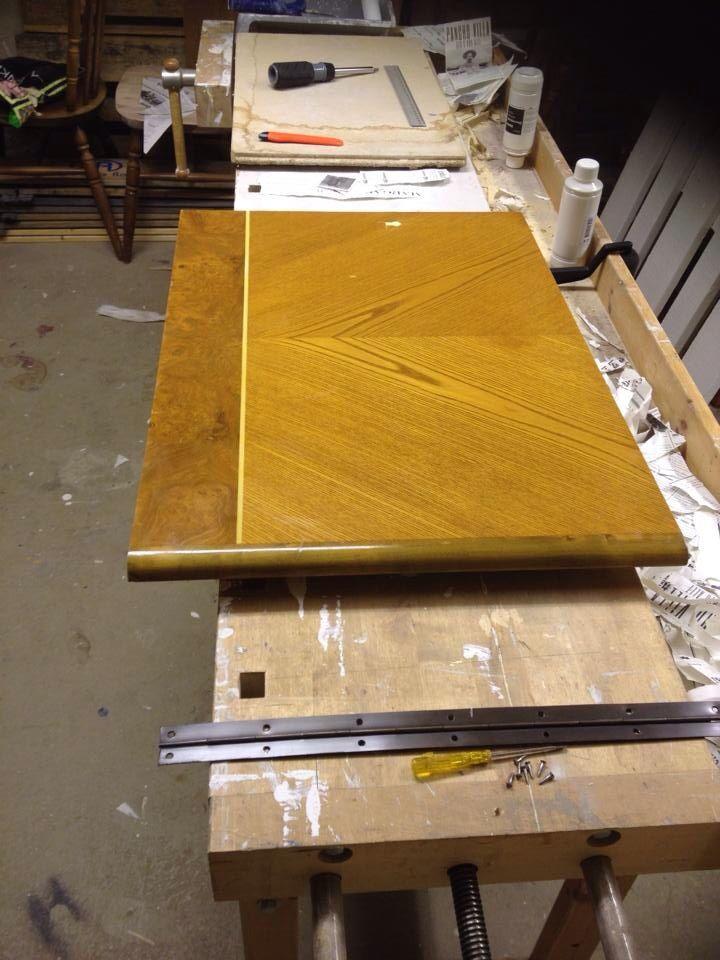 Sideboard doors before restore...