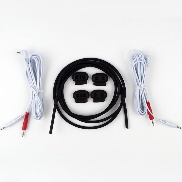 Konduktif Karet Kit dengan 2-in-1 Elektroda PULUHAN Kabel Pinwires CBT Dewasa Permainan Seks DIY