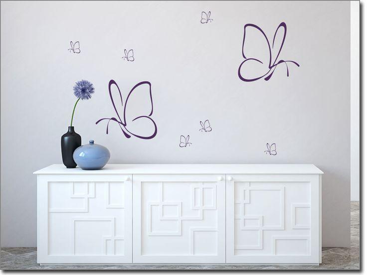 Awesome Wandtattoo Schmetterling XXL Set