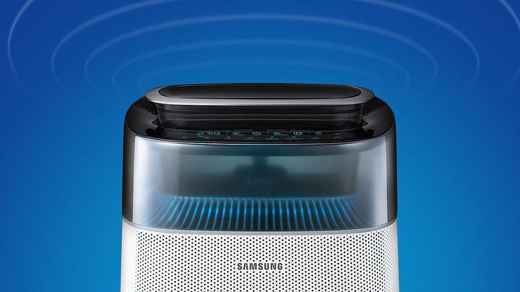 파란 배경에 삼성 블루스카이 6000 제품의 상단이 확대되어 보여주고 있습니다.