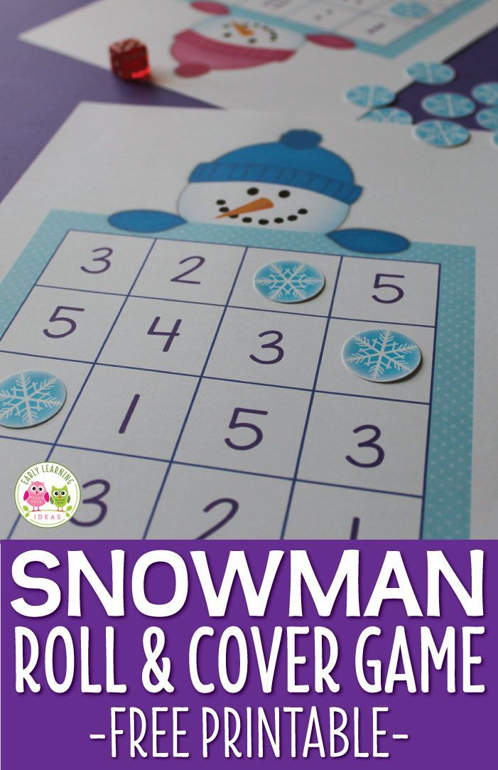 Use this cute snowman game to help kids work on number skills. The free snowman printable includes 4 levels of game boards that you can use with many different learners. Perfect for your math station or math learning center in preschool, pre-k and kindergarten. Kids can learn dot patterns, numeral recognition and simple +1 addition (one more) and simple -1 (one less) subtraction. For your winter theme lesson plans and winter them units....and snowman theme lesson plans and snowman theme…