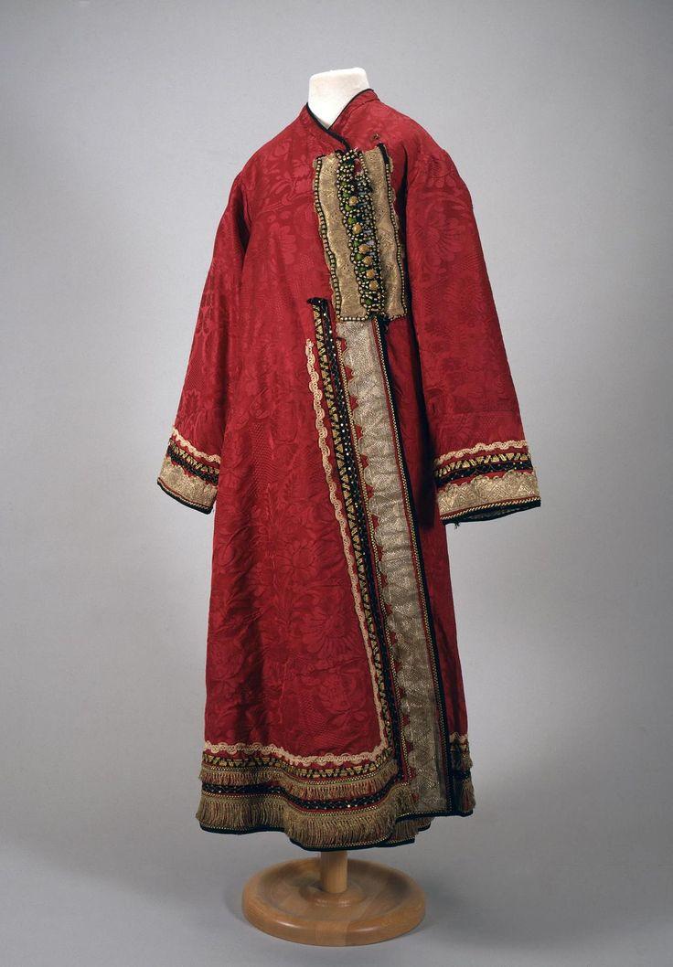 Female Overcoat 'Odezhina' Russia, 19th century Name: Female Overcoat 'Odezhina' Place of creation: Russia Date: 19th century School: Nizhny Novgorod Province Material: raspberry silk
