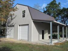 Steel Gambrel Building Shell Kit, 2 floors 2400 sq ft Plus sheds