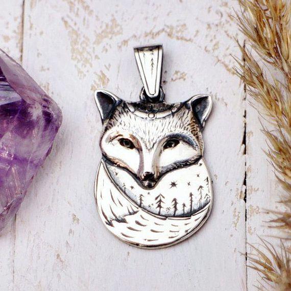 Jewelry Silver Pendant Jewelry Pendant Animal by LullabyForFox