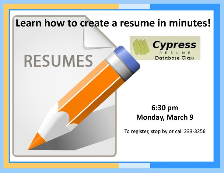 97 best Past KPL Classes images on Pinterest Mondays, Learning - cypress resume