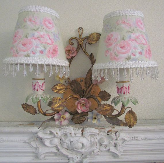 331 best images about shabby chic lamps chandeliers on for Shabby chic weihnachtsdeko