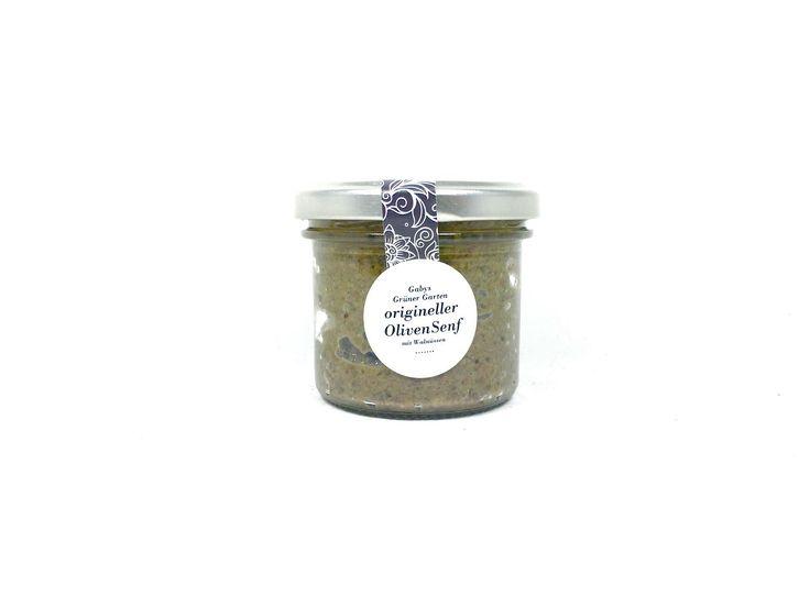 Ein weiterer Senf ist dazu gekommen… origineller Olivensenf verfeinert mit Walnüssen…  die leicht herben Oliven passen sich dem Senf in seiner leichten Schärfe fantastisch an. Die Walnüsse geben ein weiche Note.  Zutaten: rosa Essig, Wasser, gelbes Senfpulver, Oliven, Walnüssse, Zucker, Salz