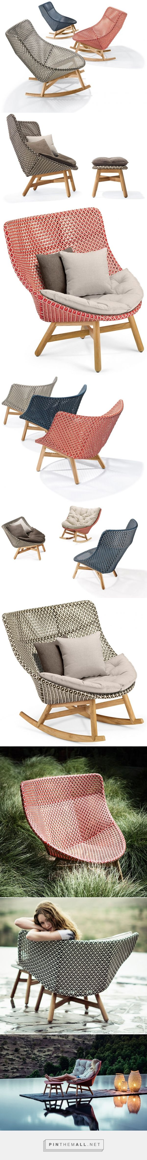 sebastian herkner's outdoor mbrace chair collection for dedon at imm cologne - created via https://pinthemall.net