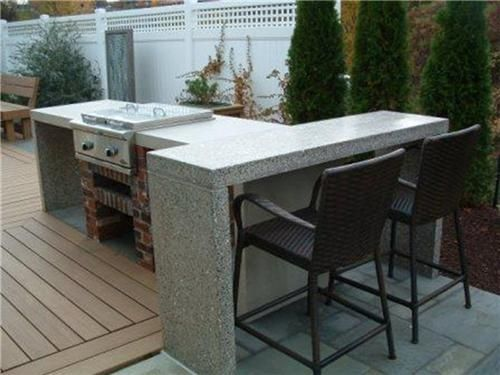 24 best images about small outdoor kitchens on pinterest for Small space outdoor kitchen
