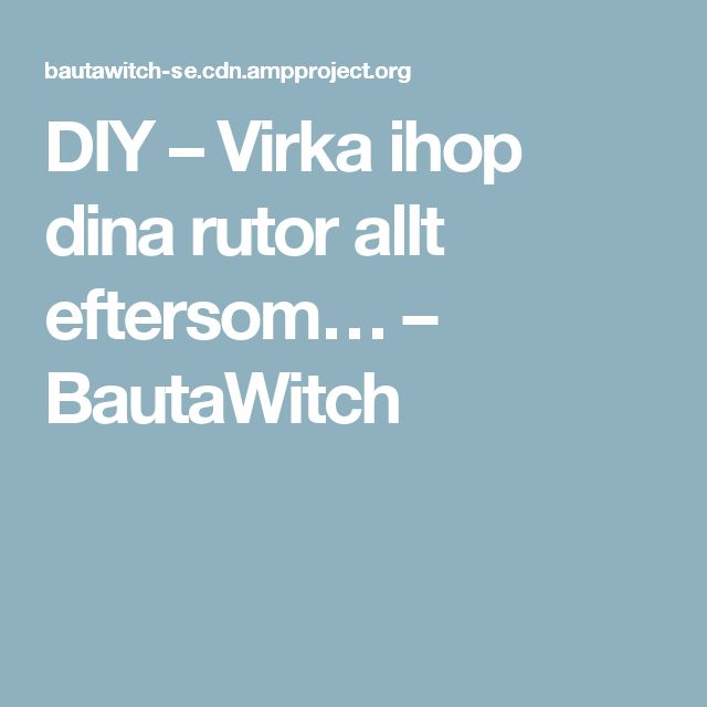 DIY – Virka ihop dina rutor allt eftersom… – BautaWitch