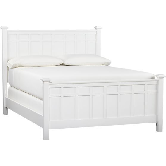 Brighton White Bed in Beds, Headboards | Crate and Barrel