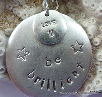 win a personalized hand stamped charm