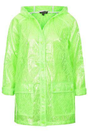 Fluro Lace Plastic Mac Rain Jacket!!