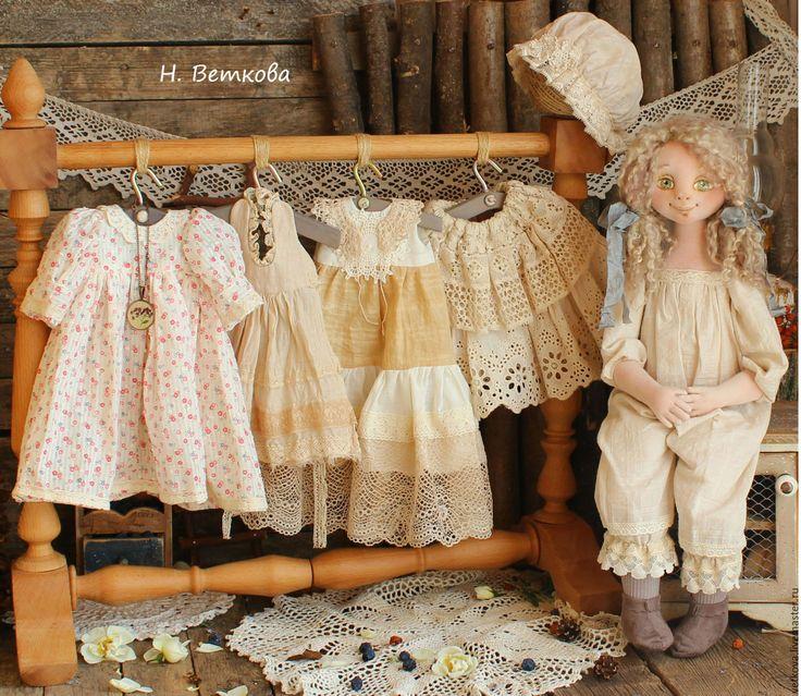 Купить Лерочка текстильная авторская коллекционная интерьерная кукла art doll - белый, молочный цвет