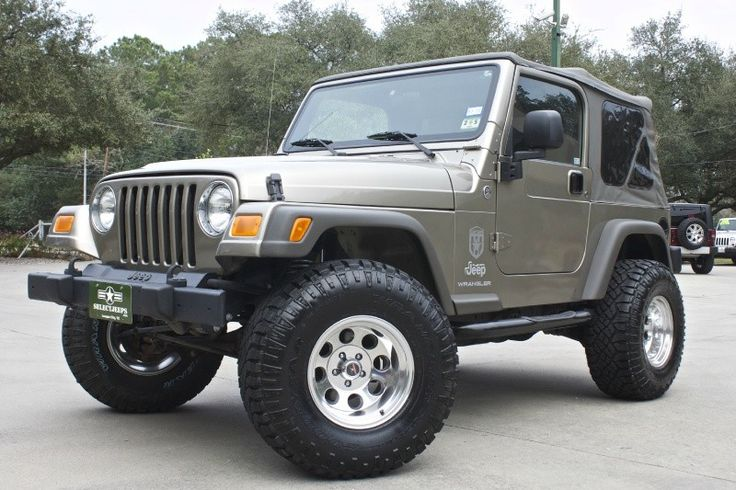 "2006 ""Last year of the TJ"" Only 4k Miles Ahhh! Brand New Rough Country 2.5"" Suspension Lift, Brand New 33x12.50 Goodyear Wrangler Duratrac Mud Terrains & 15x10 Polished Level 8 Tracker Wheels, Automatic, For Price----> http://www.selectjeeps.com/inventory/view/8138888/2006-Jeep-Wrangler-2dr-X-League-City-TX"