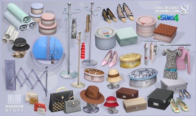 Wardrobe stuff at SIMcredible! Designs 4 via Sims 4 Updates