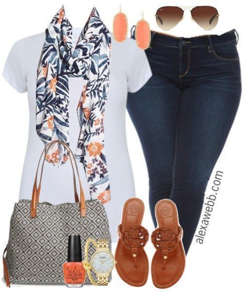 Plus Size Outfit Idea - Plus Size Ankle Jeans - Plus Size Fashion for Women - alexawebb.com #alexawebb
