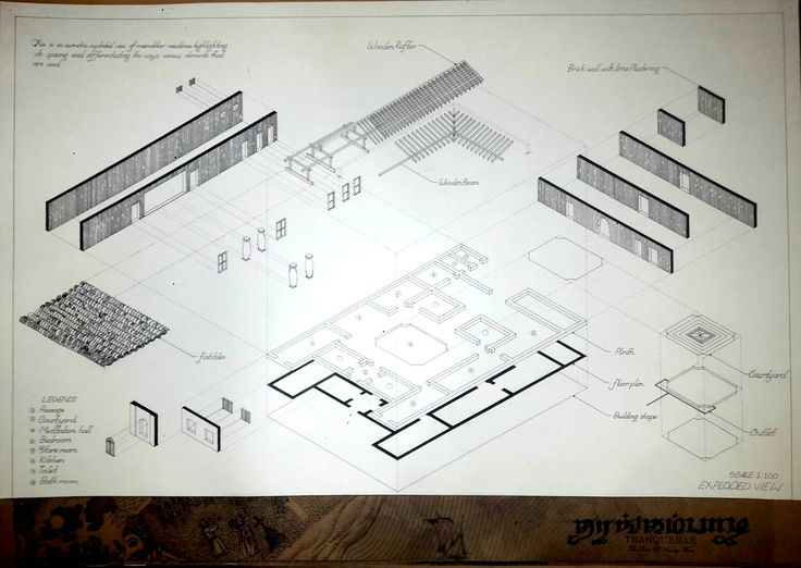 Exploded view of marikar residence (documentation)