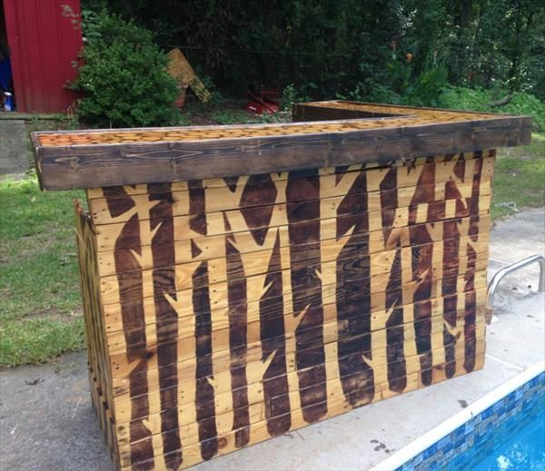 DIY Pallet Reception Desk | Pallet Furniture DIY