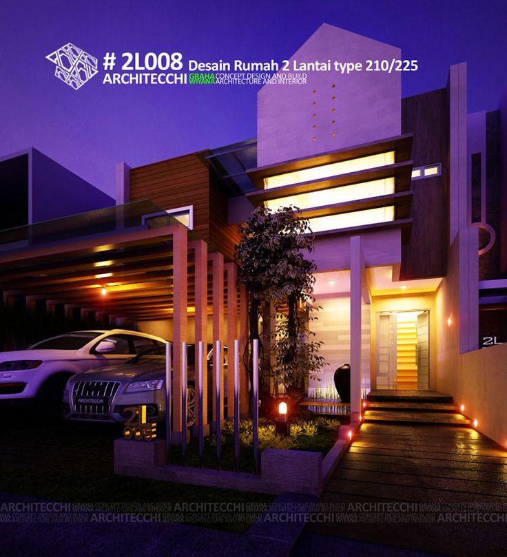 Desain Rumah Minimalis 2 Lantai 2L008 #Arsitek #DesainRumah #MinimalisModern #Architecchi