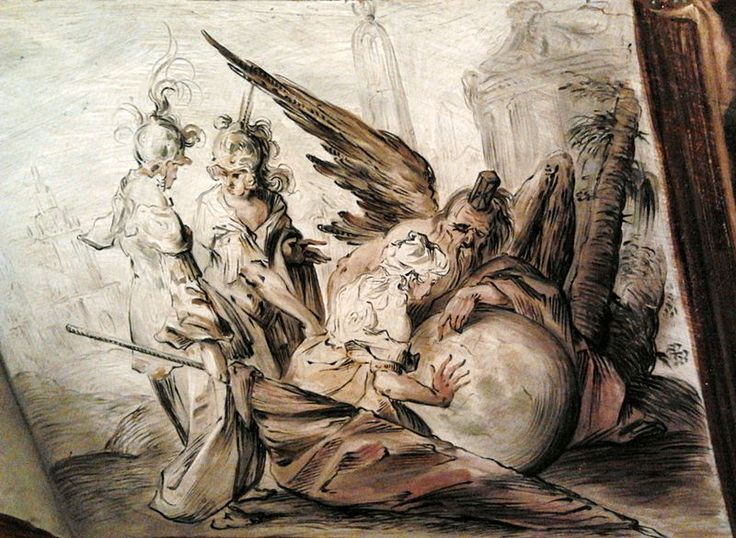 Part of the Art Collection of Prince Władysław IV Vasa (9 Jun 1595-20 May 1648) Poland. Painting of Allegory of time by Hans von Aachen in 1626.