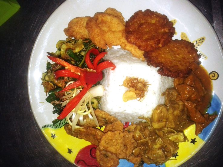 Nasi Campur from our Indonesian selection... www.diningroomcandidasa.com  #bali #kulinerbali #traditionalfood #foodie #foods