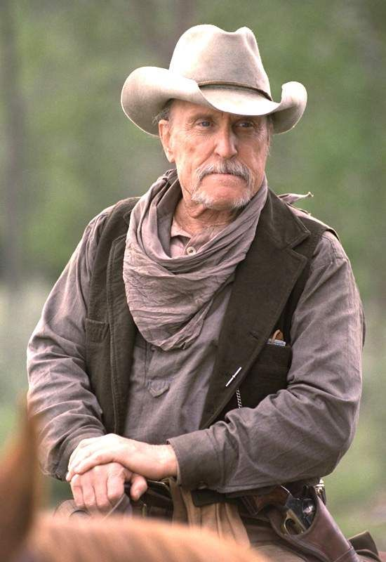 Robert Duvall in Broken Trail with Charles Haden Church. Or maybe it was the other western whose name escapes me with Kevin Costner and Annette Bening.