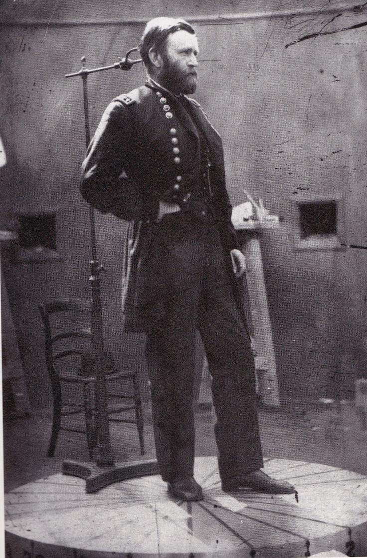 General Grant posing for a photograph, 1860s