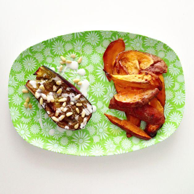 Simpel recept voor aubergine met zoete aardappel - LIV'WOW