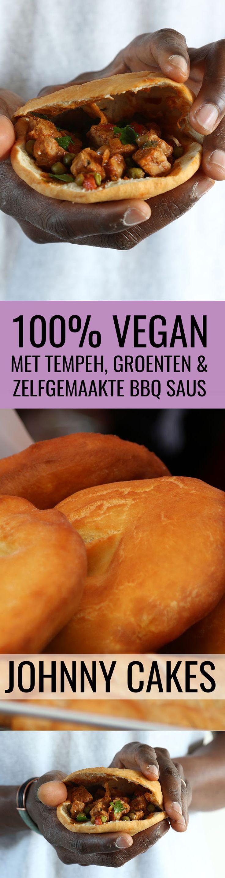 vegan veganistische johnny cakes recept antilliaans eten