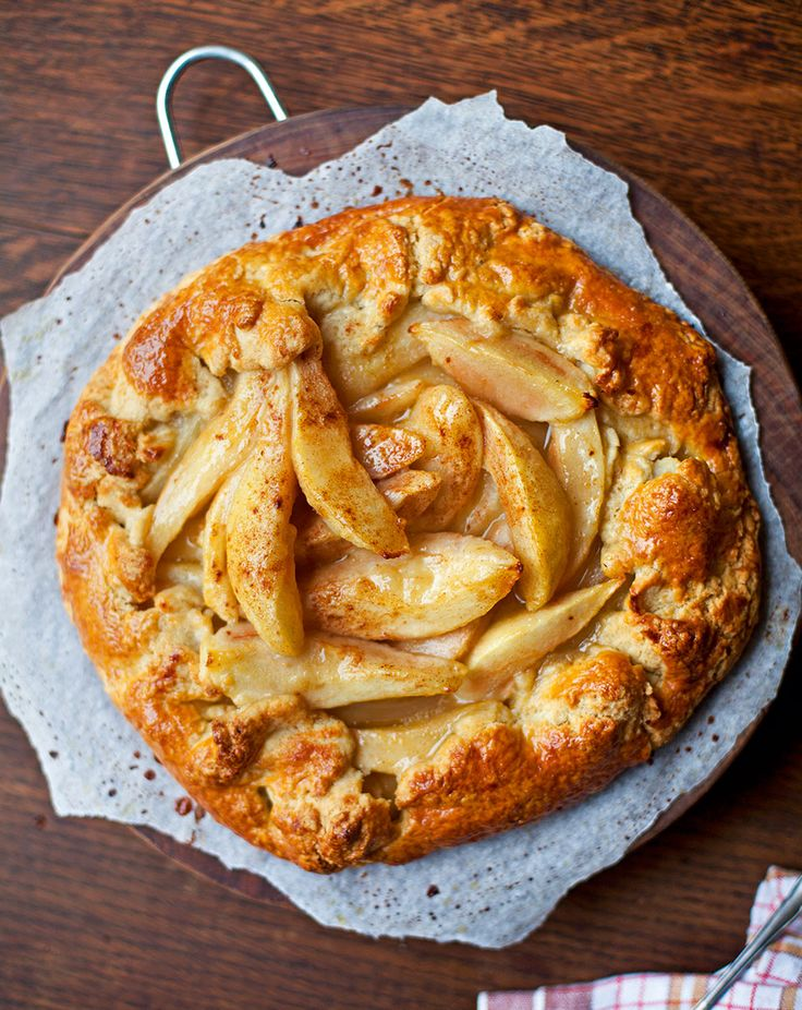 This pear tart looks impressive but is straightforward to make – and there's no need to worry about lining tart tins or blind baking.